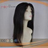 Natürliche Haar-Zeile Menschenhaar-Strahlen-Schwarz-volle Spitze-Frauen-Perücke