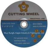 En12413標準研摩の落ち込んだ中心の鋼鉄切断の車輪