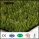 Césped sintético natural de la hierba de la alta calidad que ajardina
