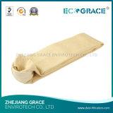 Sacchetto filtro della polvere del tessuto P84 della fibra del E-Vetro per il fumo del camino