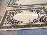 Mattonelle di marmo Polished del pavimento non tappezzato del medaglione di Waterject