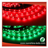 Tira flexible Bendable azulverde roja del PWB LED de SMD2835 300LEDs 6m m