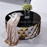 2016 Klassieke Moderne Marmeren Koffietafel met Staal