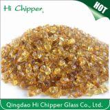 Puces en verre ambres foncées écrasées par décoration