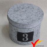 Weinlese-Metallgeschenk-Kasten