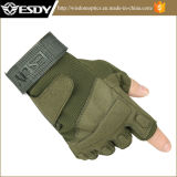 Tactical Hunting Esdy Half Finger Airsoft Luvas Exército Verde