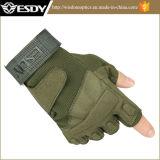Тактический охотясь зеленый цвет армии перчаток Airsoft перста Esdy половинный