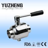 Válvula de esfera sanitária Dn40 do aço inoxidável de Yuzheng