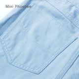 O algodão azul caçoa a roupa para calças em linha das meninas da venda