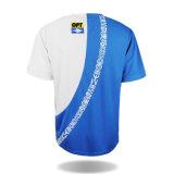 A forma da fabricação da camisa de T veste camisas impressas alongadas do esporte T