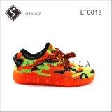 軽いOutsoleのオレンジ子供そして女性LEDのスニーカーの靴