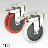 Roter Belüftung-Schwenker mit doppelter Verriegelungsplatten-Oberseite-Fußrolle