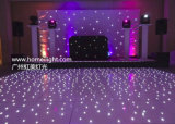 Связанная проволокой и беспроволочная танцевальная площадка панели СИД RGB White&Black акриловая Starlit Twinkling для случаев свадебного банкета