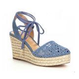 Alta del talón de cuña zapatos de moda de señora Sandal