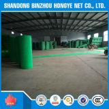 Red de seguridad verde de la cortina de la construcción de la seguridad del HDPE usada para el edificio