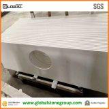 Qualitätsreine weiße Quarz-Badezimmer-Eitelkeits-Oberseiten