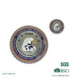 Monedas redondas de plata antiguas de encargo del recuerdo