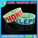 Bracelet fait sur commande en caoutchouc de bracelet de silicones de bracelet de silicones de pleines couleurs de mode