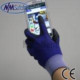 Nylon Liner super suave PU Guante Guante Touch Screen