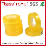 Ruban adhésif acrylique jaunâtre de noyau de bande de la bande en plastique BOPP de papeterie