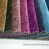 Tissu décoratif de sofa de velours de jacquard de polyester