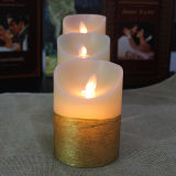 Flickering muoventesi LED Candle con Yellow Surface