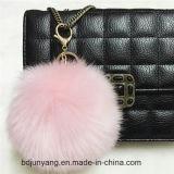 Fascino caldo del sacchetto dell'anello chiave POM POM della pelliccia del Faux di vendita