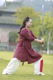 Tai van het taoïsme de Lente van de Chi & Kleding van de Kraag van het Vlas van Han van de Zomer de Chinese Schuine