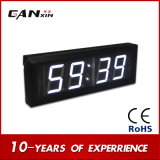 "[Ganxin] 2.3 ""Modern Design Precision LED Digital Clock com tempo mundial"