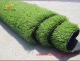 Relvado artificial confortável para o futebol dois tons com certificação do GV