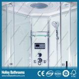 Populäre ausgeglichene freie Tür-Glasdusche-Raum mit ABS Dusche-Tellersegment (SR213C)