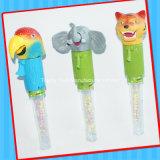 歌う動物キャンデーの管が付いているおもちゃ