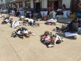 Zapatos usados deporte limpio del hombre de la talla y grande para el mercado de África (FCD-005)