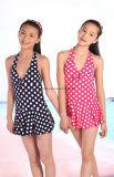 Износ детей Swimsuit малышей Swimwear девушок МНОГОТОЧИЯ польки способа сладостный