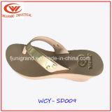 Alto deslizador del verano de las sandalias de la cuesta de las mujeres para las señoras