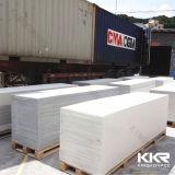 Superfície branca de pedra artificial acrílica do sólido da pedra da resina