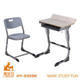 Mesa e cadeira personalizadas de leitura dos estudantes universitários para a escola (aluminuim ajustável)