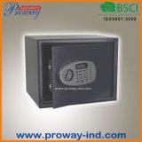 Caja de seguridad digital con pantalla LCD fondo azul claro