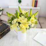 Flor artificial del lirio retro de dos pistas para la decoración (SF15258)