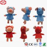 Varken met het Blauwe Roze Grappige Zachte Gevulde Stuk speelgoed van de Pluche Hoodie