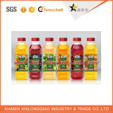 Impresión adhesiva de la escritura de la etiqueta de la etiqueta engomada de la fruta de la bebida de la etiqueta engomada plástica de la botella