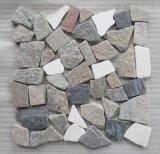 Mosaico de mármol blanco de la dimensión de una variable del hexágono para la venta