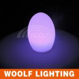Lampe à lampe à oeuf en verre transparent à LED
