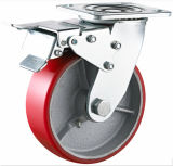 Seitliche Brake Schwer-Aufgabe PU auf Iron Caster