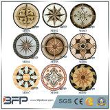 大理石のウォータージェットの円形浮彫り床タイルのための円形デザインパターン