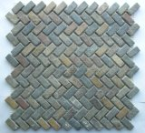 Mattonelle di mosaico di marmo popolari su ordinazione per la decorazione della parete