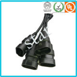 9004/9005/9007 Connecteur de lumière de moulage étanche Harnais de fil avec tube en PVC