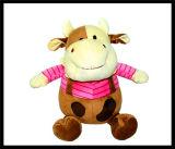 Le bébé badine la poupée animale de jouet de singe de chien de chat de Noël velu de peluche