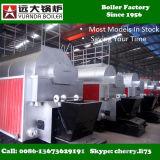 1000kgs caldera de vapor industrial encendida carbón horizontal de la capacidad 1ton/Hr
