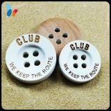 Лазер Engraved Letter Logo Wooden Sew таможни на Buttons